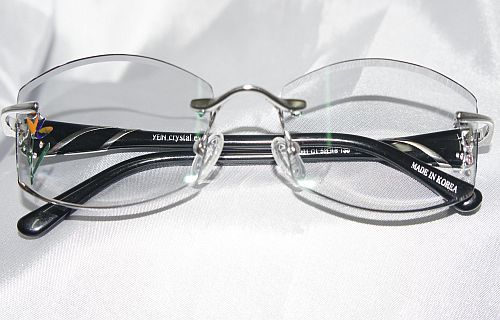 faceted eyewear with precious stones